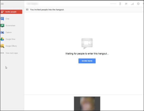 Hangout Waiting Screen