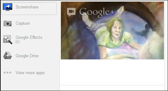 Hangout Screenshare Feature
